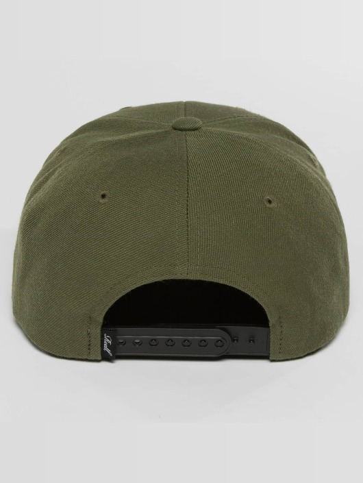 Reell Jeans Snapback Caps Pitchout oliwkowy