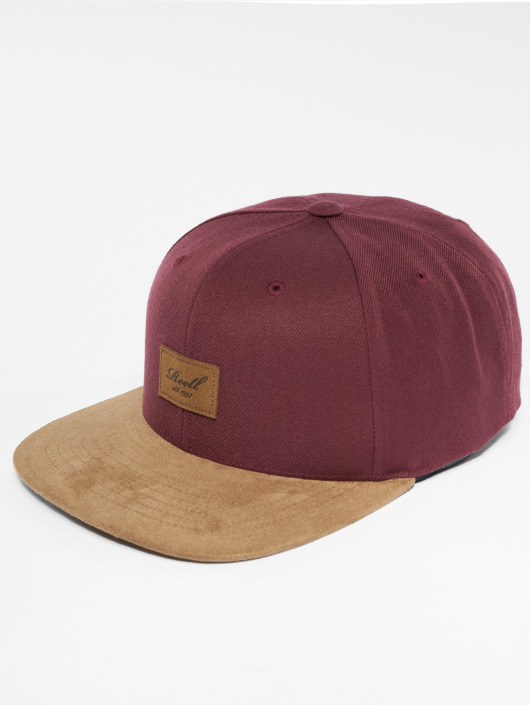 Reell Jeans Snapback Caps Suede punainen