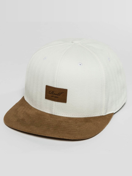 Reell Jeans Snapback Caps Suede valkoinen