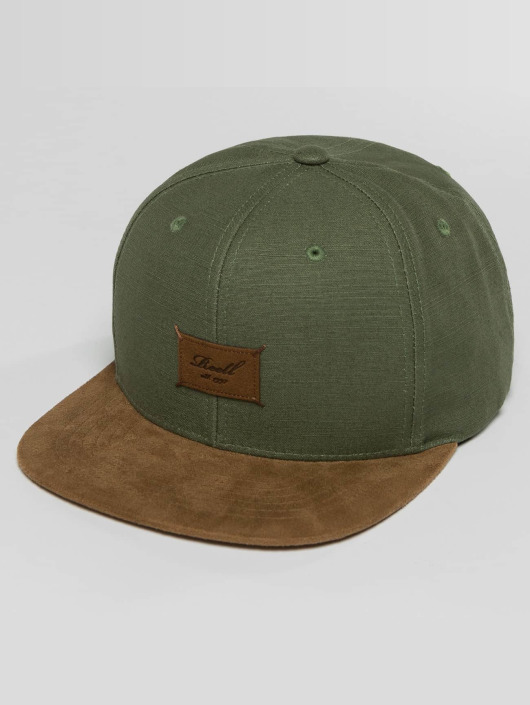 Reell Jeans Snapbackkeps Suede oliv