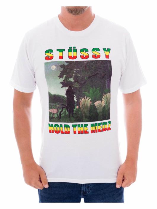 Stüssy T-Shirt Hold the Medz white