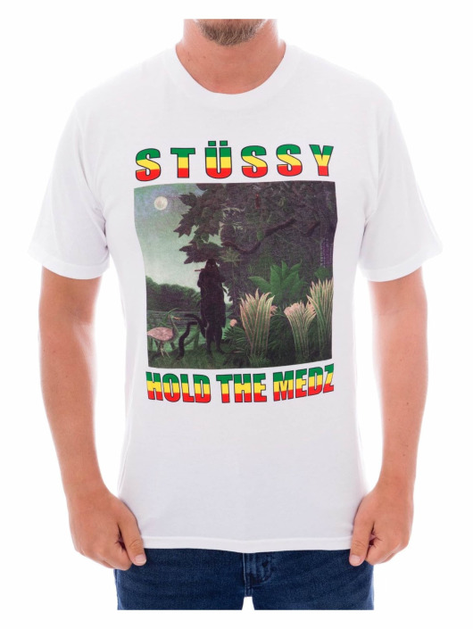 Stüssy T-Shirty Hold the Medz bialy