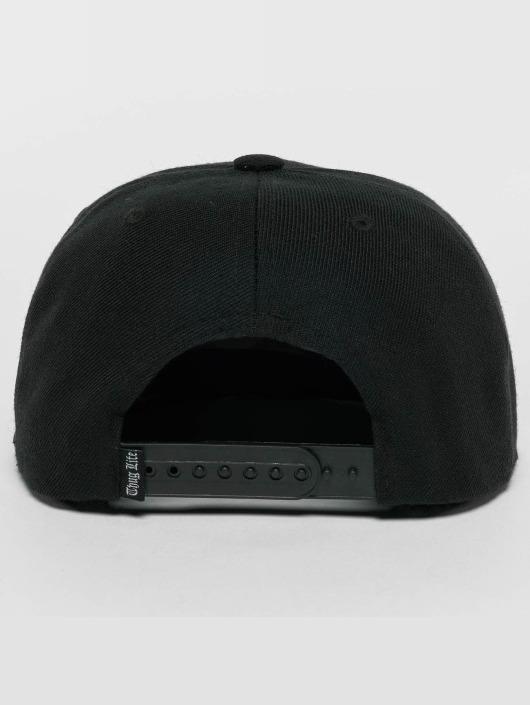 Thug Life Snapback Caps Kvartas svart