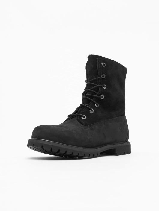 Black Authentics Waterproof Boots Timberland Teddy Fleece Rj54LA