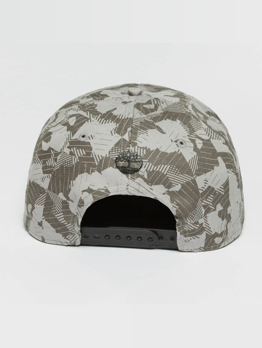 Timberland Snapback Caps Large Logo Camo šedá
