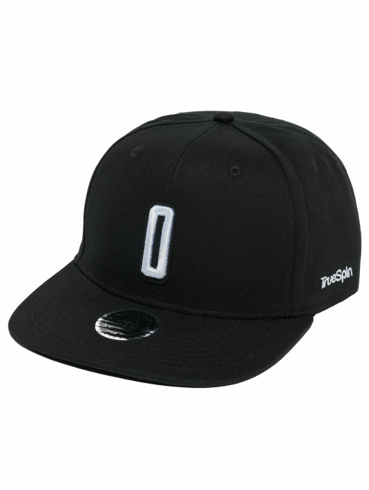 TrueSpin snapback cap ABC O zwart
