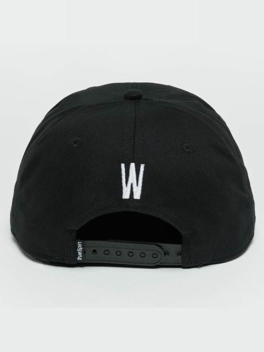 TrueSpin snapback cap ABC W zwart