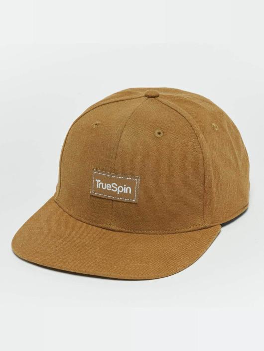 TrueSpin Snapback Caps Decent brun