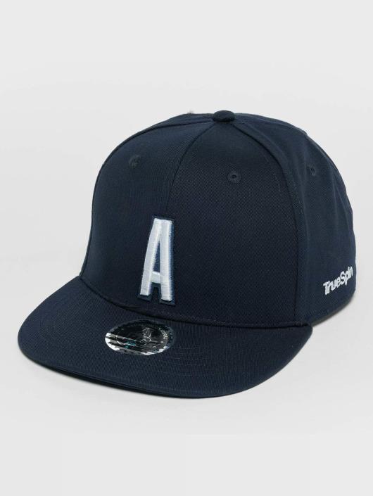 TrueSpin Snapback Caps Kids ABC A modrý