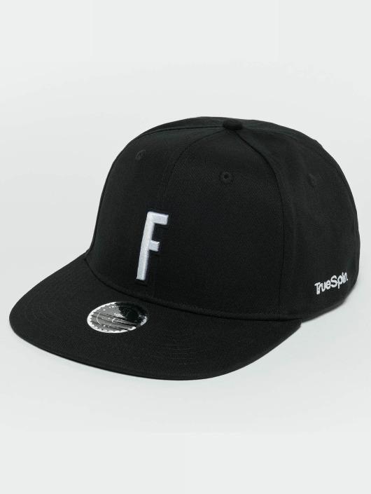 TrueSpin Snapback Caps ABC F musta