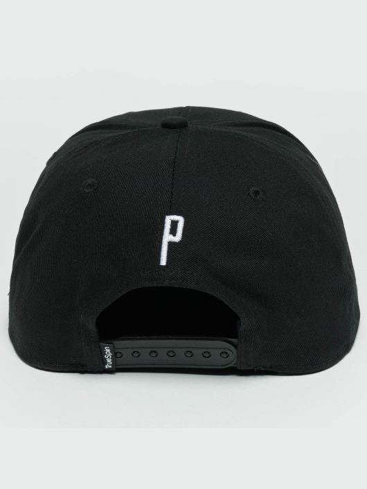 TrueSpin Snapback Caps ABC P musta