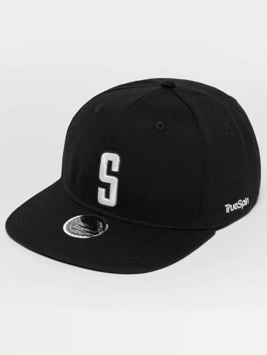 TrueSpin Snapback Caps ABC S musta