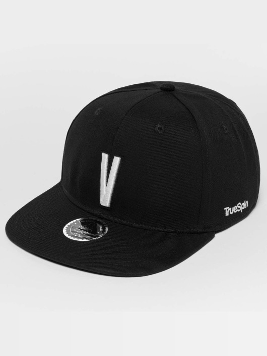TrueSpin Snapback Caps ABC V svart
