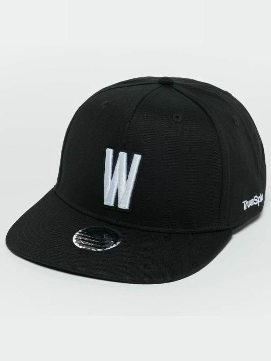 TrueSpin Snapback Caps ABC W svart