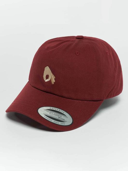 TurnUP Snapback Caps Neigschaut červený