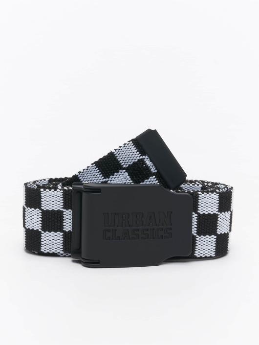 Urban Classics Belt Canvas Checkerboard black