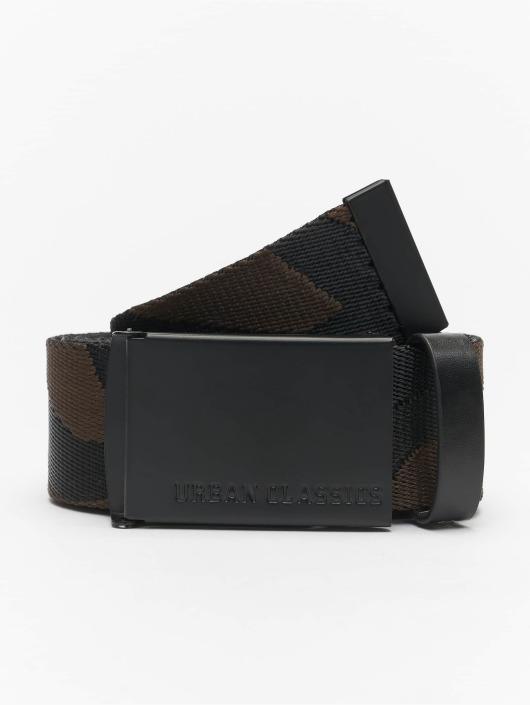 Urban Classics Belts Jaquard Camo svart