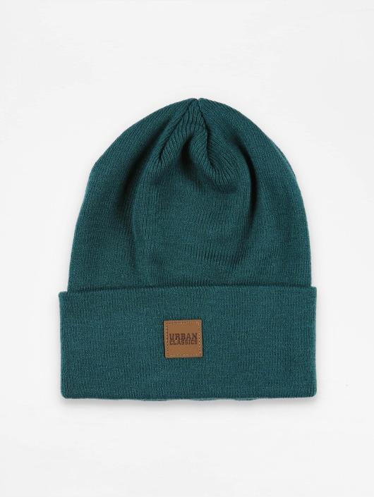 Urban Classics Hat-1 Leather Patch Long blue