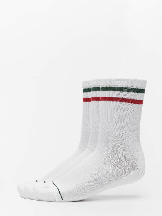 Urban Classics Ponožky 3 Tone biela