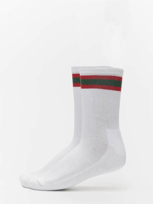 Urban Classics Ponožky 2-Pack Stripy Sport biela