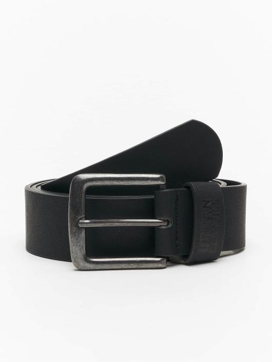 Urban Classics riem Leather Imitation zwart