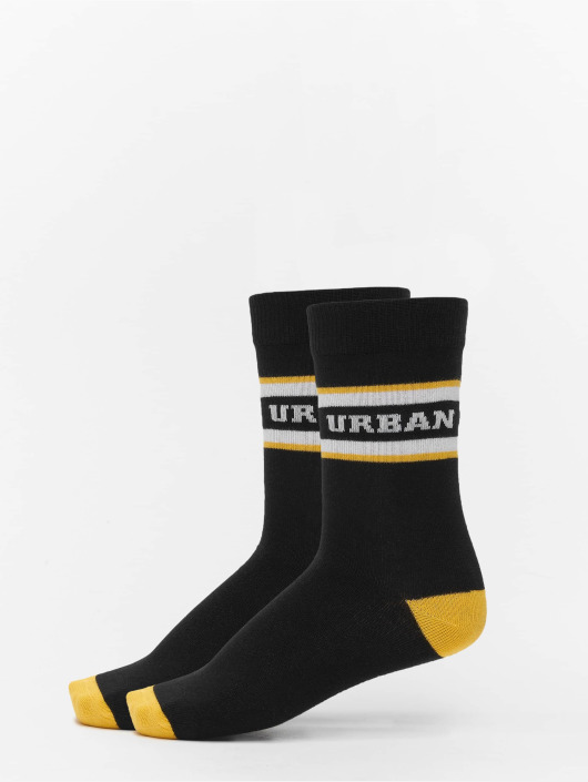 Urban Classics Socken 2-Pack Logo Stripe Sport schwarz
