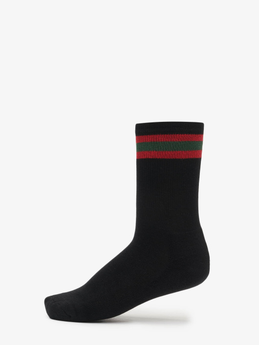Urban Classics Socken 2-Pack Stripy Sport schwarz