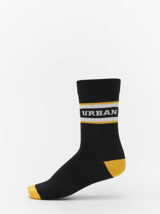Urban Classics Sukat 2-Pack Logo Stripe Sport musta