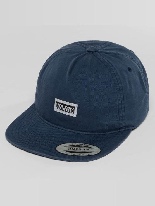 Volcom Snapback Cap Fracture blue