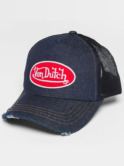 Von Dutch Casquette Trucker mesh Destroyed bleu