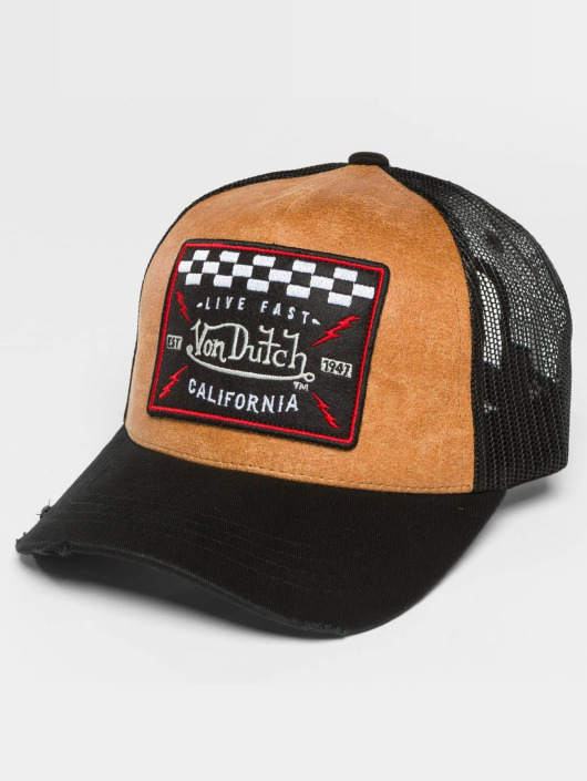 Von Dutch Trucker Caps California czarny