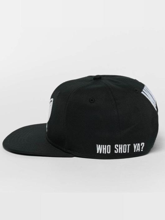 Who Shot Ya? Snapback Cap Logo schwarz