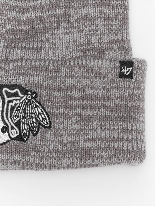 47 Brand Beanie NHL Chicago Blackhawks Brain Freeze grau