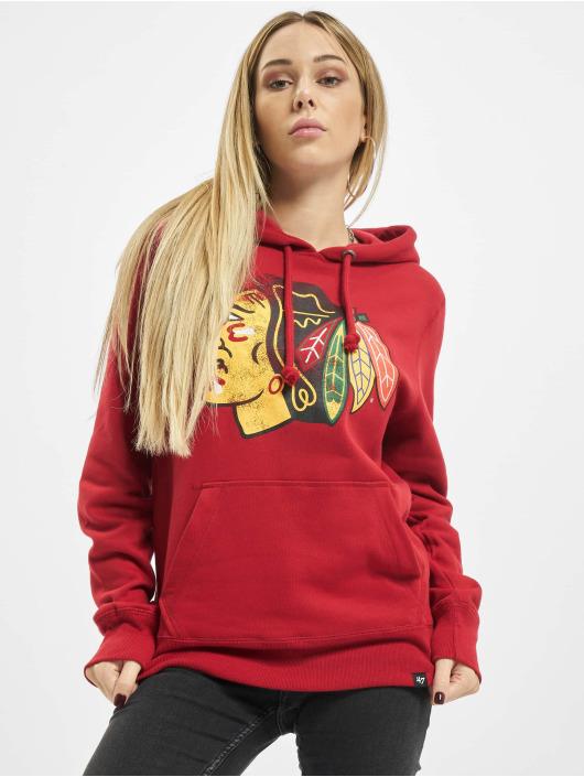 47 Brand Hoody Chicago Blackhawks Knockaround Headline rot