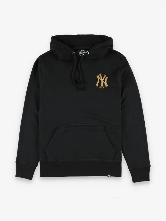 47 Brand Hoody MLB Yankees LC Metallic Hook Headline schwarz