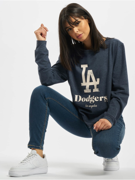 47 Brand Pullover MLB Dodgers Encore Throwback Fleecc Crew blau