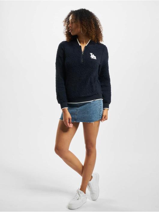 47 Brand Pullover MLB Dodgers Sherpa Fleece Qz blau