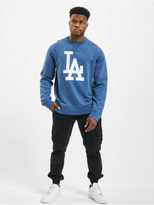 47 Brand Pullover MLB Dodgers Co Sign Crew blau