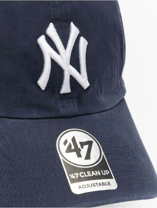 47 Brand Snapback Cap MLB New York Yankees Clean Up blau