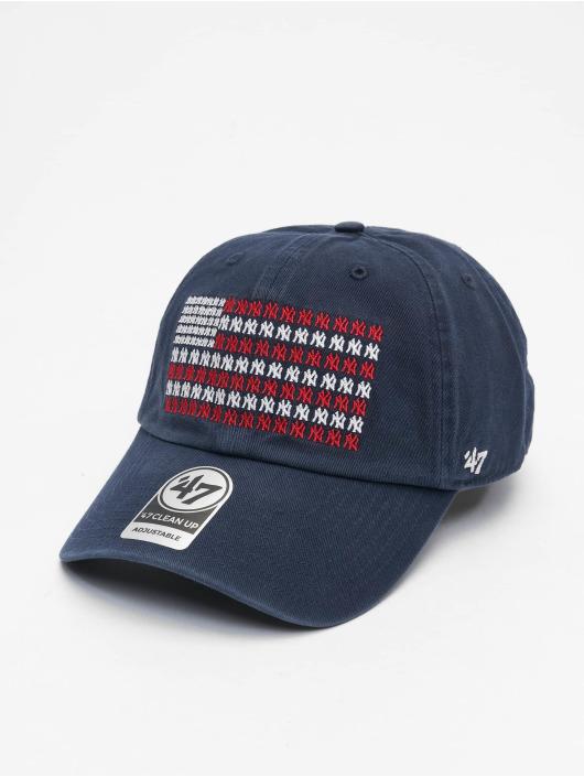 47 Brand Snapback Cap New York Yankees Americana Banner Clean Up blau