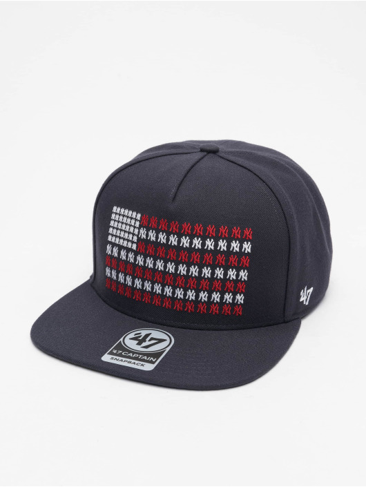 47 Brand Snapback Cap New York Yankees Americana Banner Captain blau