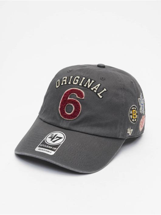 47 Brand Snapback Cap Original Six Rink Clean Up grau