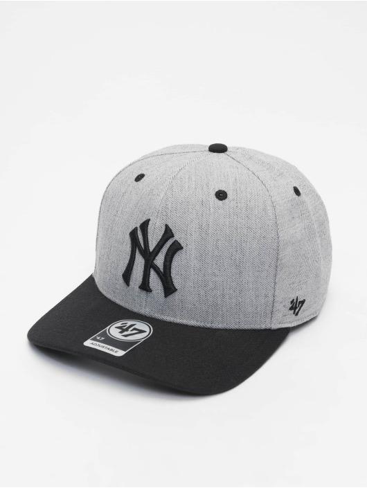 47 Brand Snapback Cap MLB New York Yankees Storm Cloud MVP DP grau