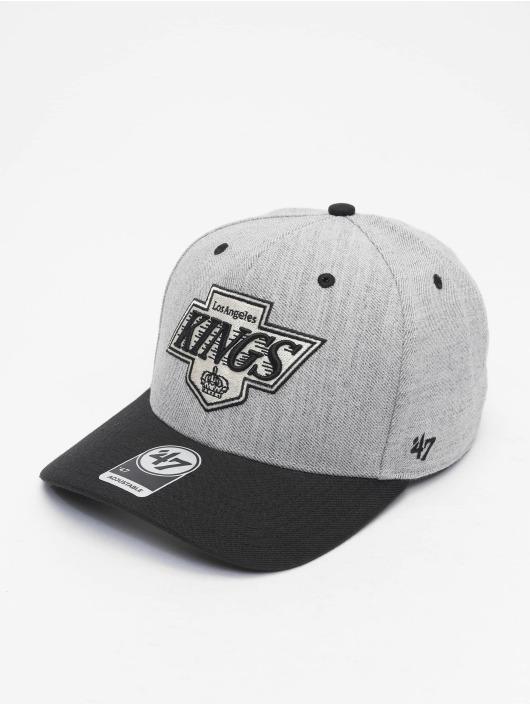 47 Brand Snapback Cap NHL Los Angeles Kings Storm Cloud TT MVP DP grau