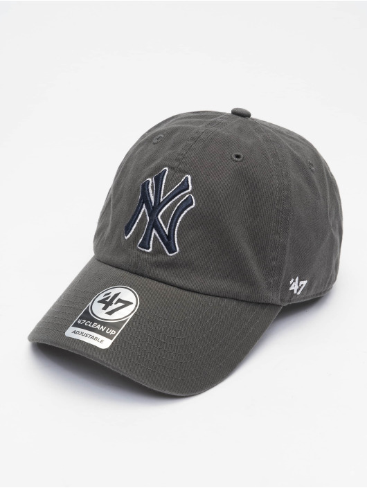 47 Brand Snapback Cap MLB New York Yankees Clean Up grau