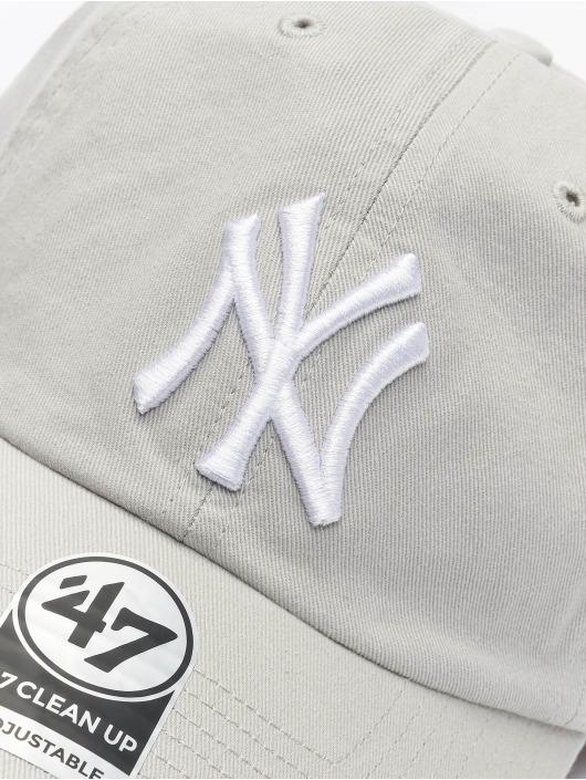 47 Brand Snapback Cap MLB New York Yankees Clean Up grau