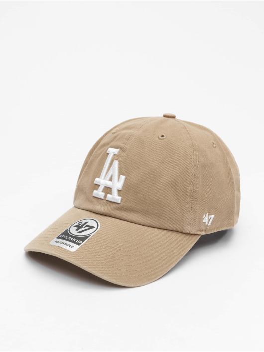 47 Brand Snapback Cap MLB Los Angeles Dodgers Clean Up khaki