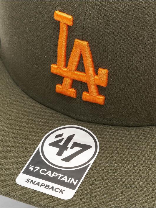 47 Brand Snapback Cap MLB Los Angeles Dodgers No Shot Captain olive