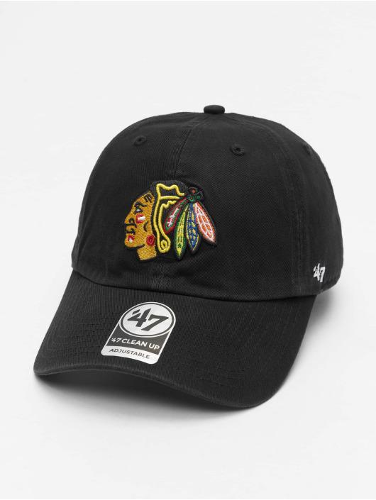 47 Brand Snapback Cap NHL Chicago Blackhawks Clean Up schwarz