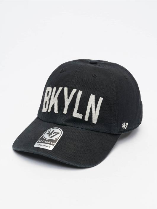 47 Brand Snapback Cap Brooklyn Dodgers Cooperstown All City Clean Up schwarz